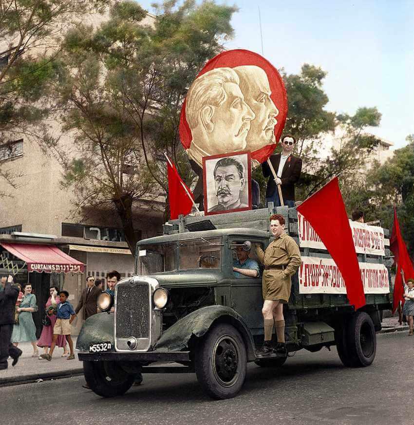 Советская машина на параде в Тель-Авиве