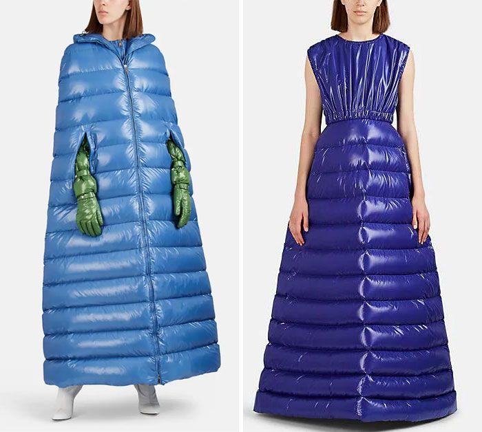 дизайн, платье, пальто, девушка