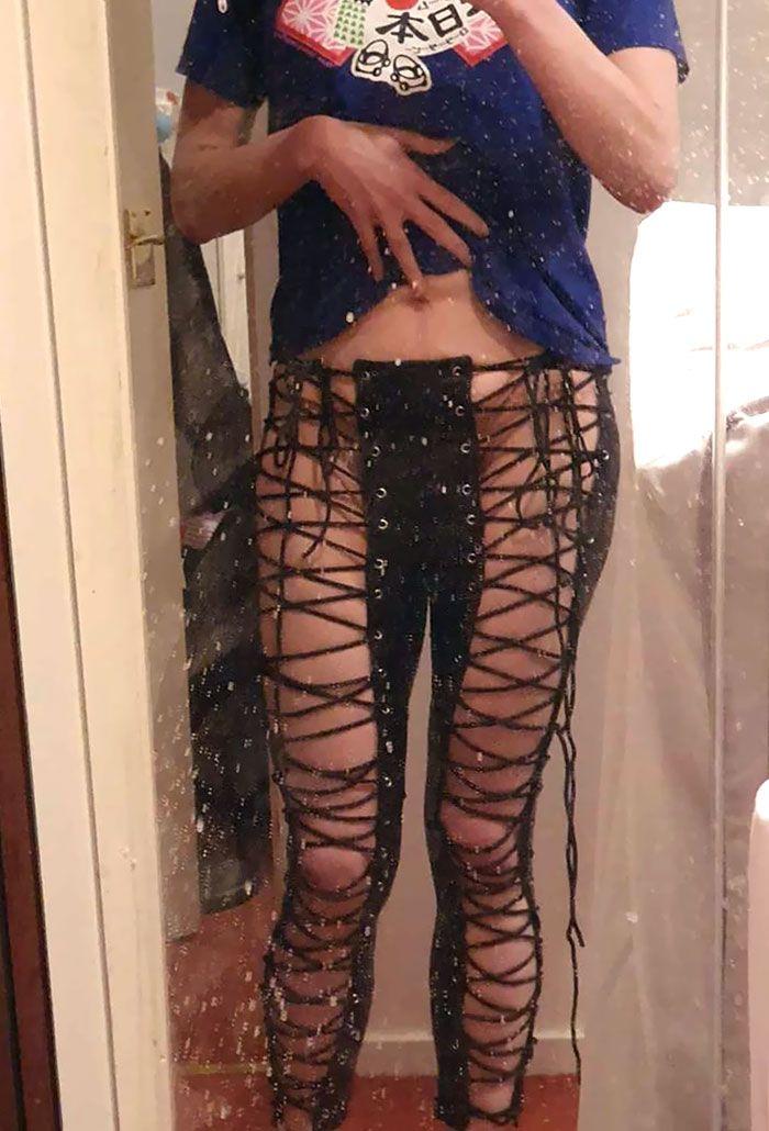 брюк, дизайн, девушка