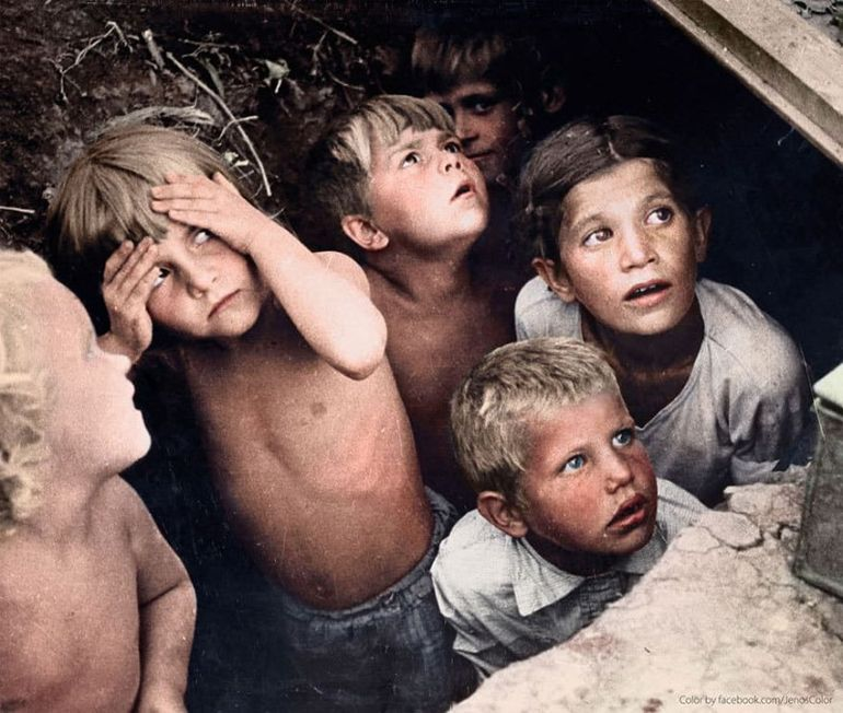дети, бомбежка