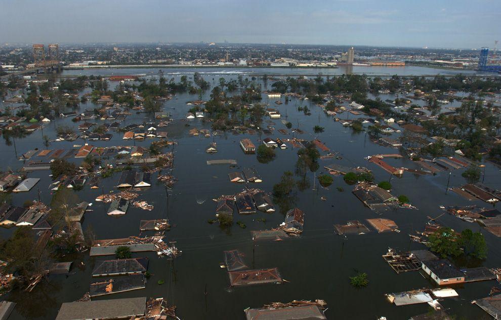 ураган, Катрина, наводнение, последствия