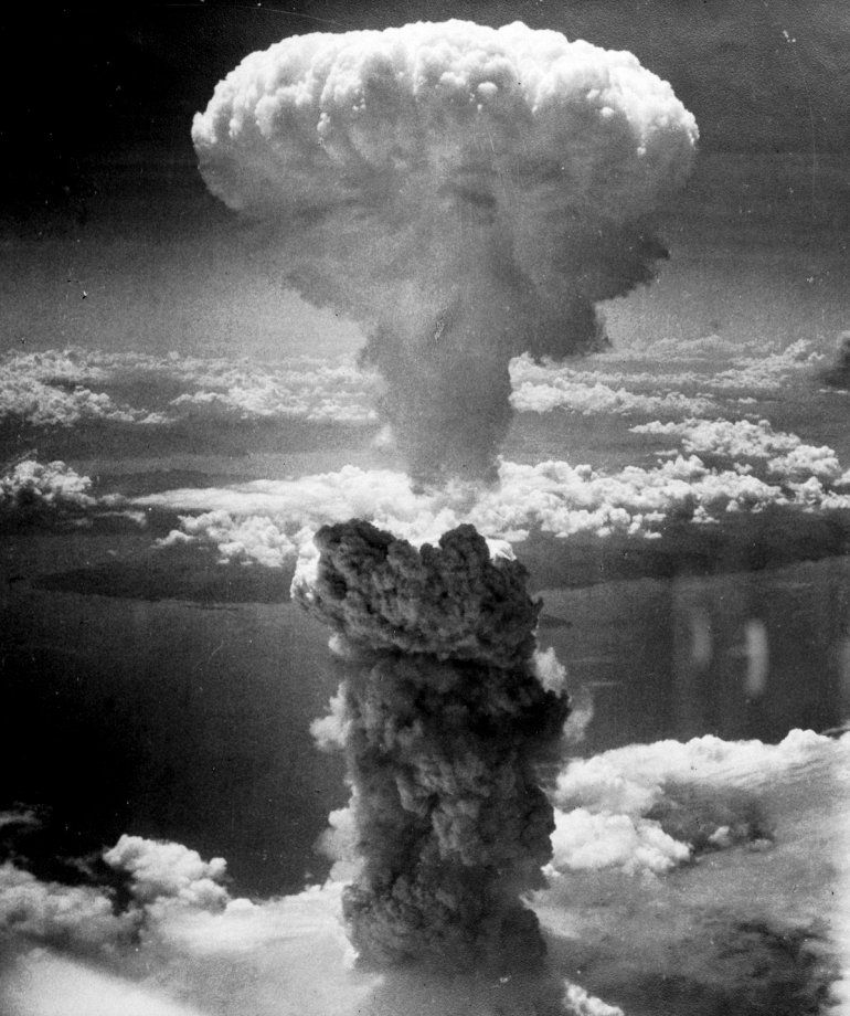 """Ядерный взрыв, спровоцированный ядерной бомбой """"Толстяк"""""""
