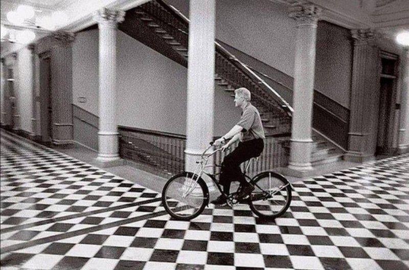 Клинтон, велосипед