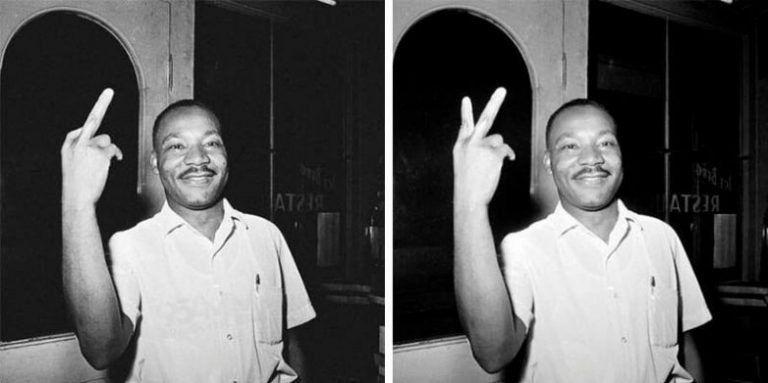 Американский борец за права человека не показывал неприличный жест - это фотошоп