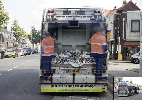 Сложно сразу понять, что там автобус / Фото: ©mixnews.lv