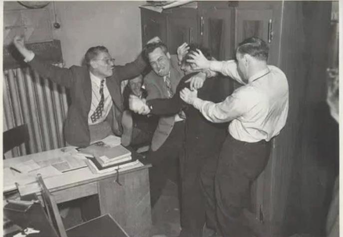 Сотрудники фотоотдела журнала «Огонек» в свободное время, 1952 год, г. Москва