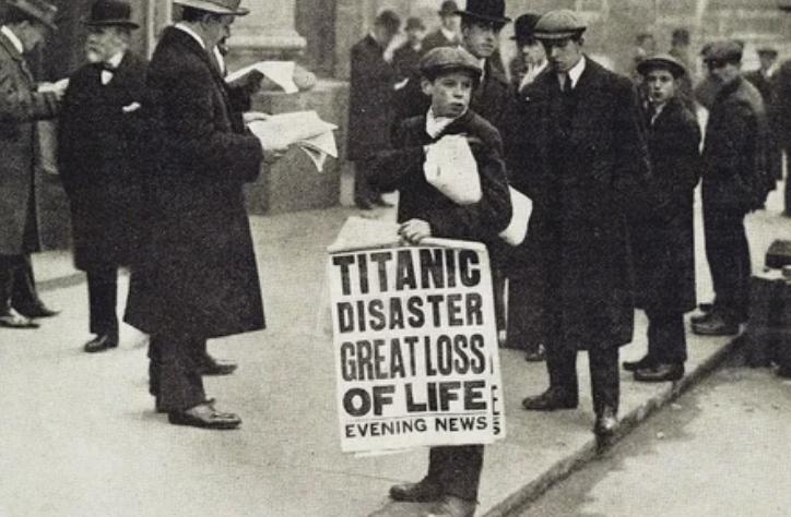 Газета, Титаник