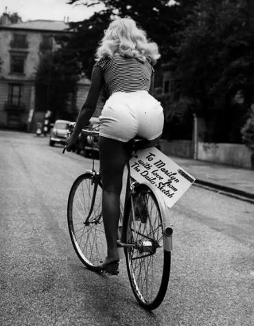 велосипед, актриса, Монро