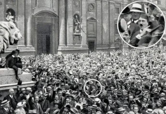 мировая война, Гитлер, толпа