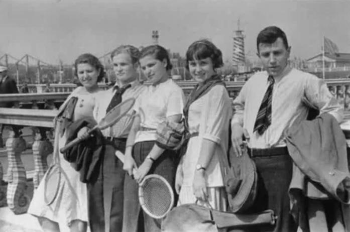 Московские теннисисты после тренировки