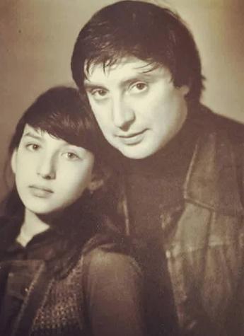 Алика Смехова с отцом Вениамином Смеховым, известным актером и режиссером