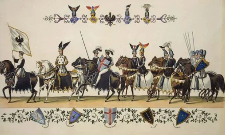 В каруселях участвовали всадники