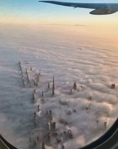 Дубай с небес особенно красив