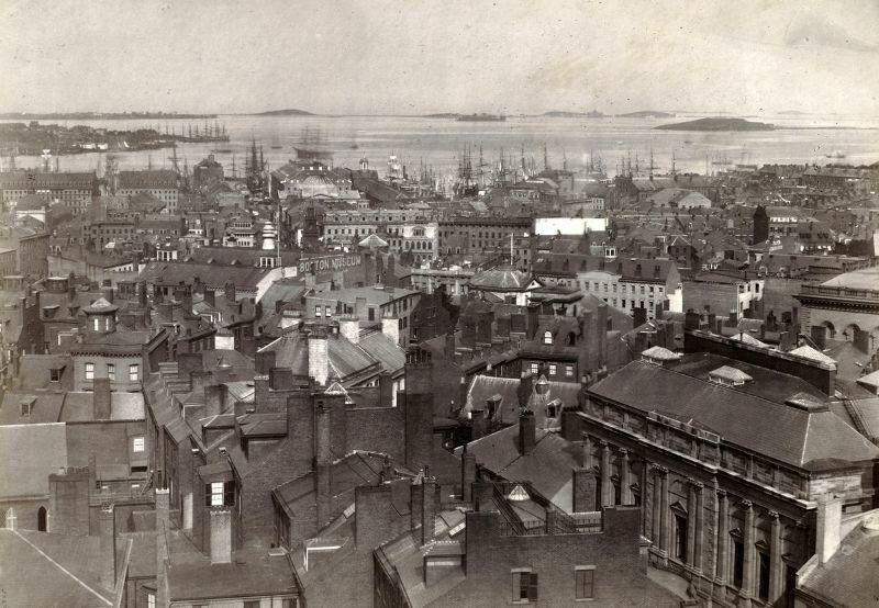 Бостон и бостонская гавань