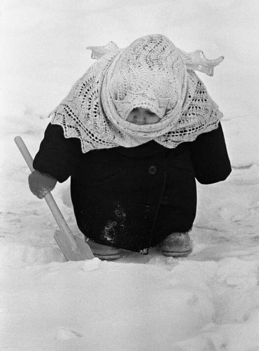 ребенок, зима