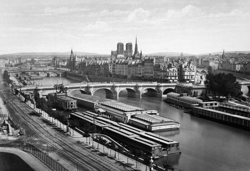 река, мост, город