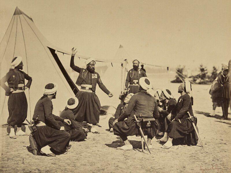 Зуавы в лагере Камп-де-Шалон