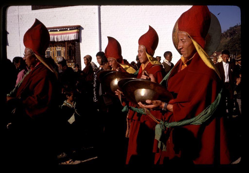 церемония, ламы, монахи