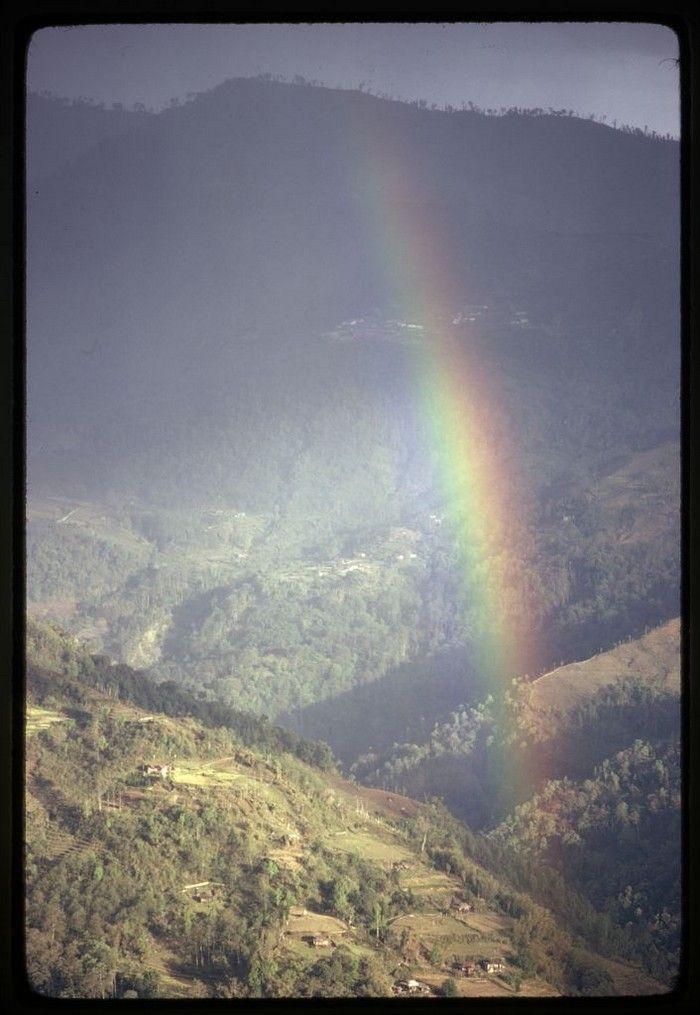 радуга, горы