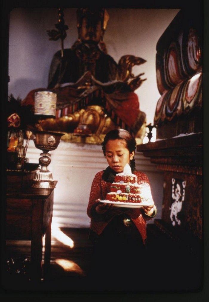 девочка, торт