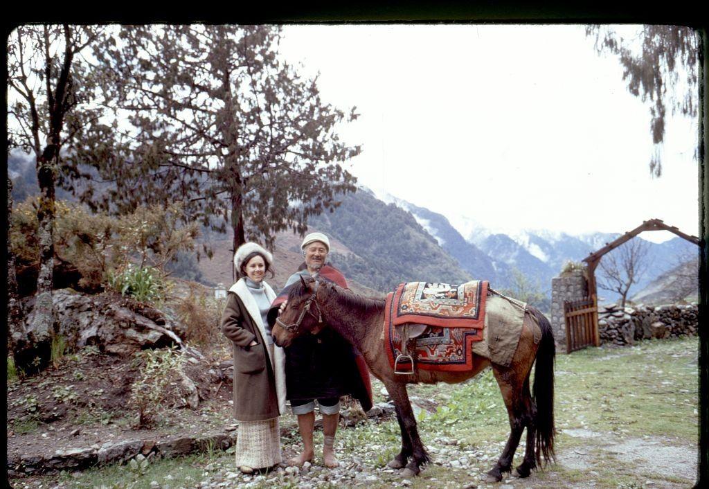 женщина, мужчина, деревня, лошадь