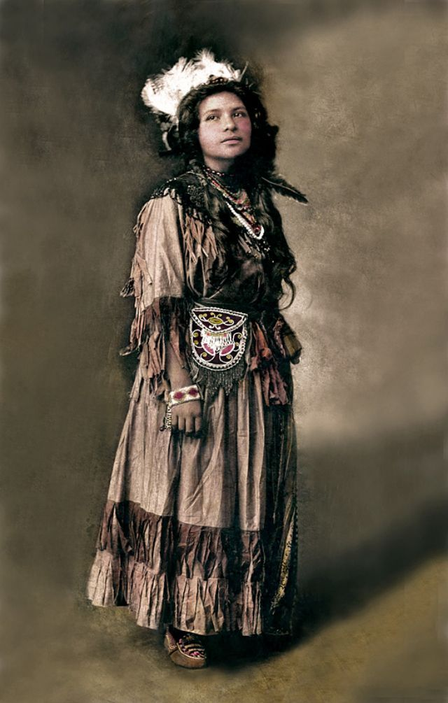 девушка, индеец, модель
