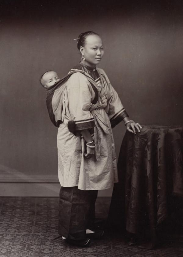 женщина, ребенок, Китай