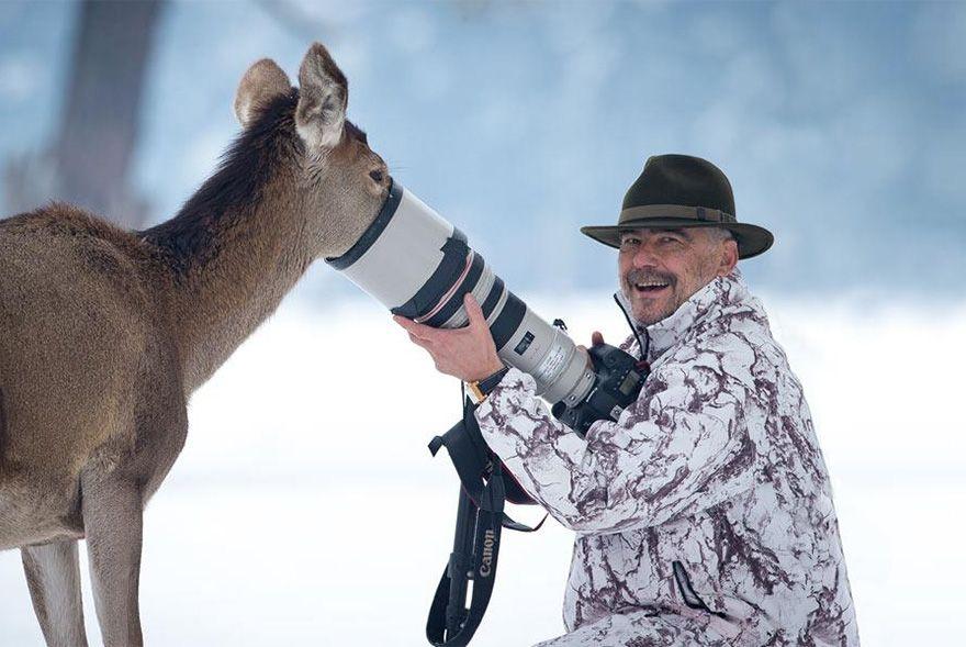 фотограф, животное