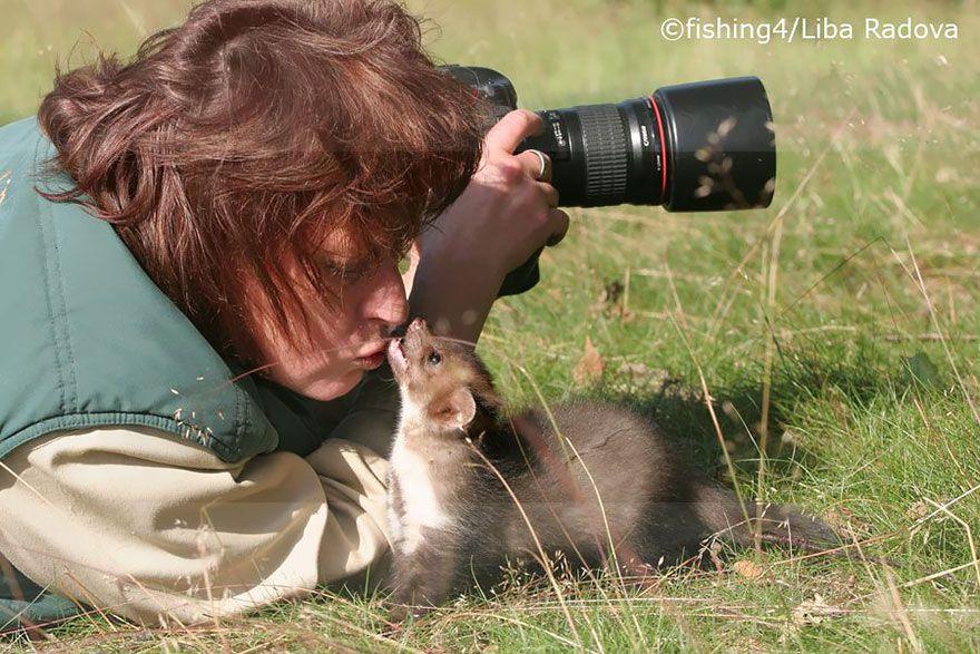 фотограф, зверек