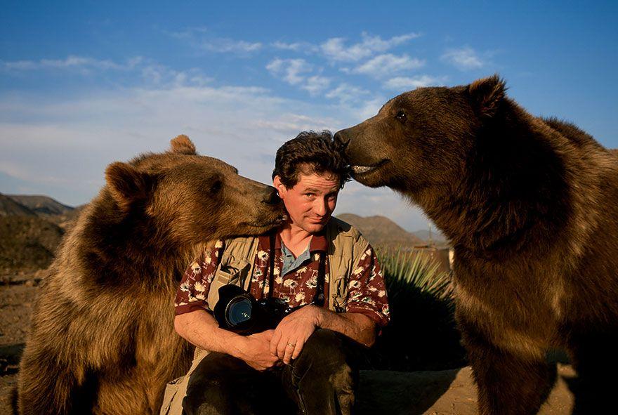 фотограф, медведи