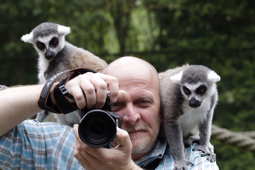 фотограф, зверьки
