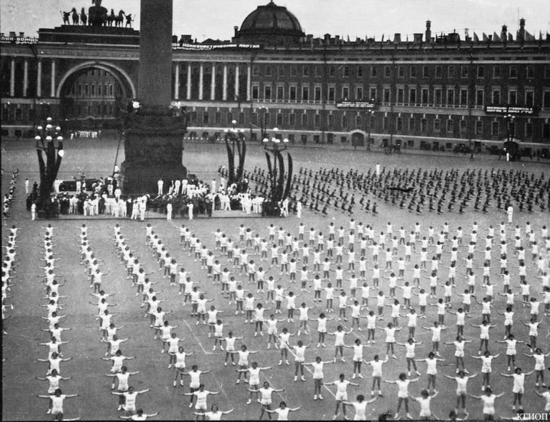 Парад в Ленинграде,1933 год