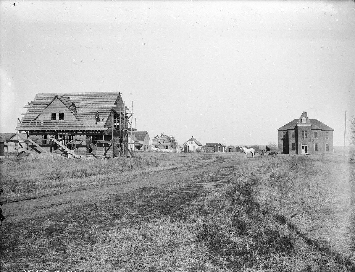 дом, строительство, поле