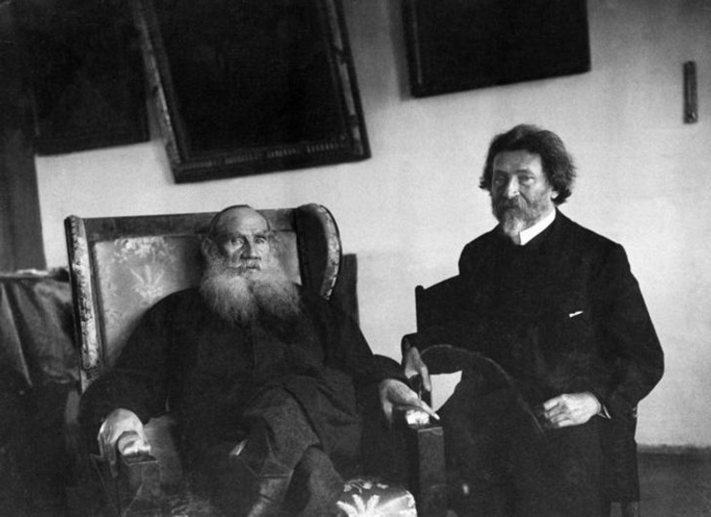 Репин и Толстой