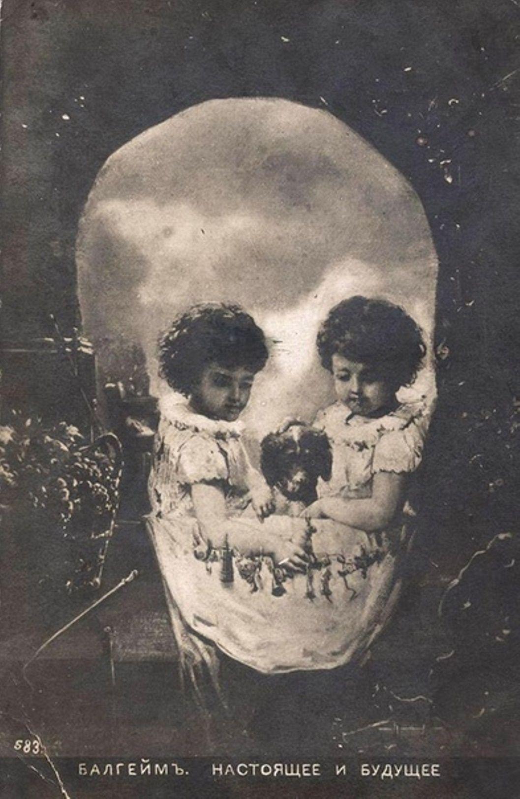 Открытка череп