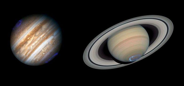юпитер, сатурн