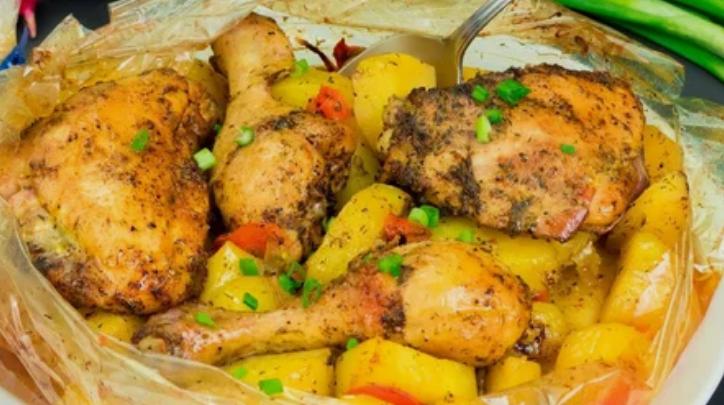 курица, картофель, блюдо