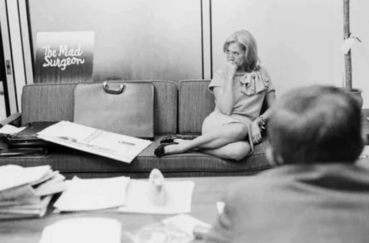 Мэри Уэллс Лоуренс, женщина-руководитель рекламного отдел, 1960