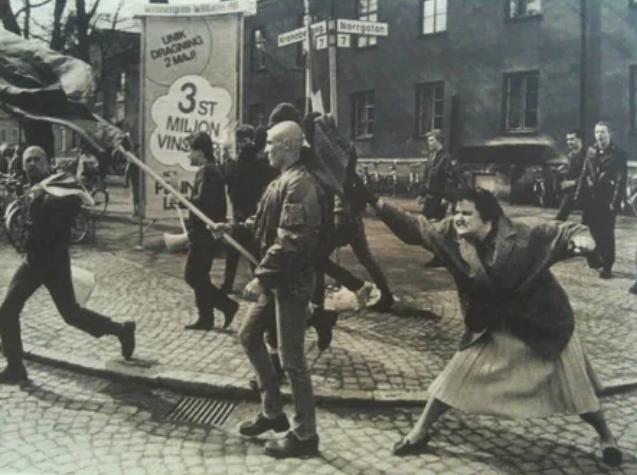 сумка, дама, неонацист