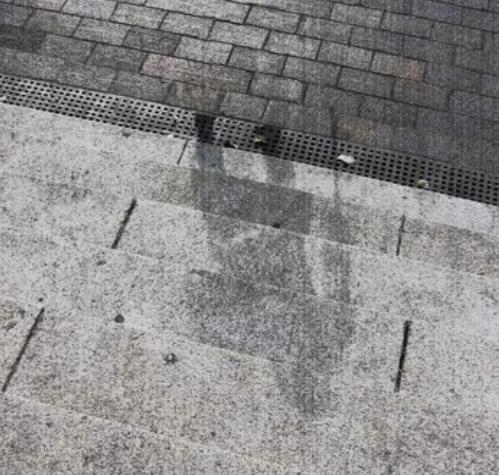 Хиросима, тени, взрыв