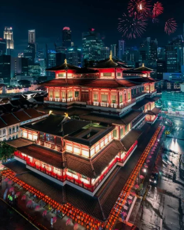 Храм Реликвии Зубов Будды, Китайский квартал, Сингапур / @ghislainfave (Франция)