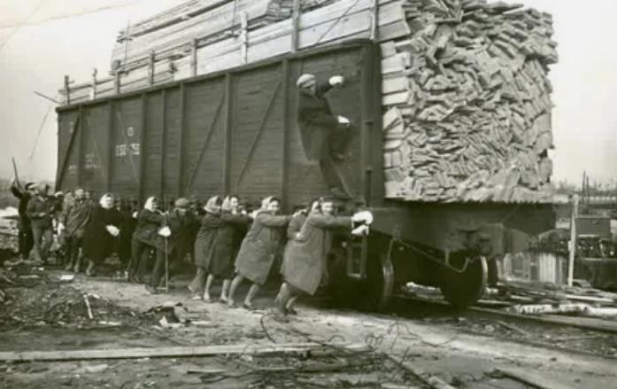 вагон, женщины, доски