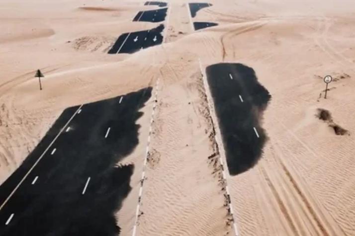 дорога, песок, пустыня