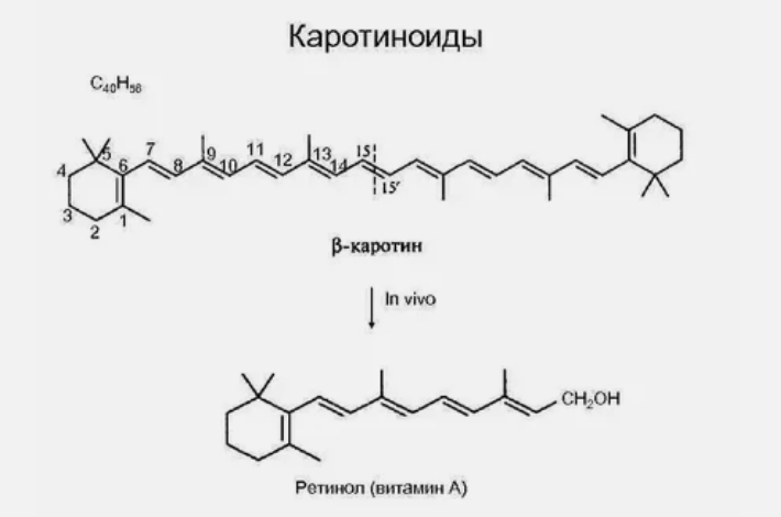 каратиноиды, формула, вещество