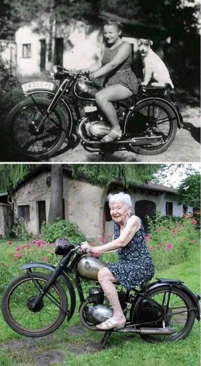 женщина, мотоцикл