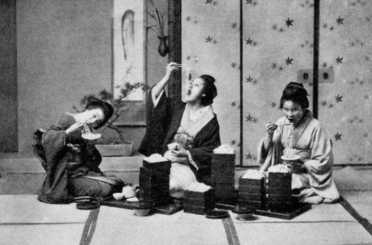 гейша, Япония, обед