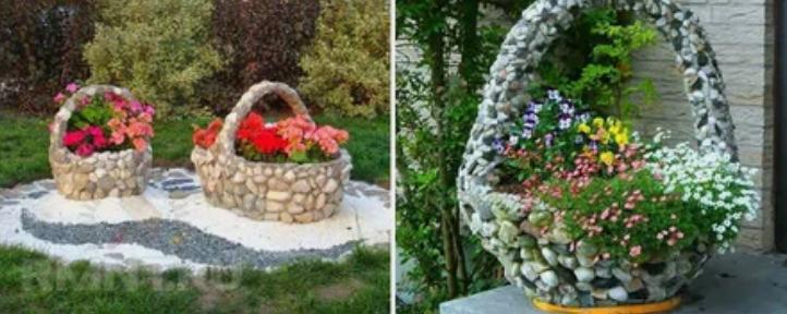 корзина, цветы