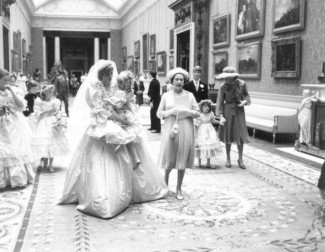свадьба, принц, принцесса, Диана, Чарльз, королева