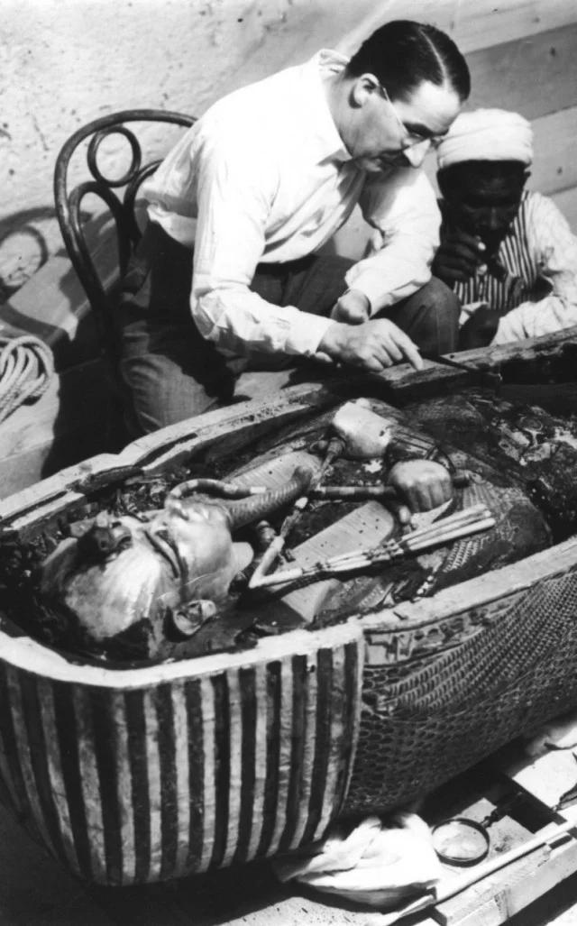 саркофаг, вскрытие, Тутанхамон