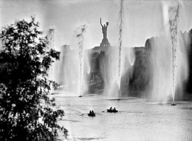 вода, река, фонтан, лодка